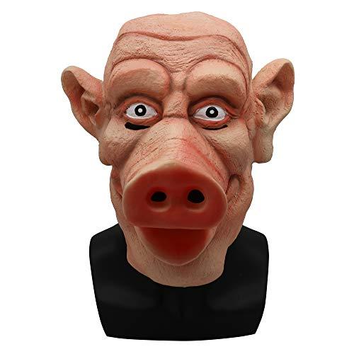 or Schweinekopf Maske Faulen Zombie Ekelhaft Lustige Spukhaus Requisiten Walking Dead Pig Eight Rings ()