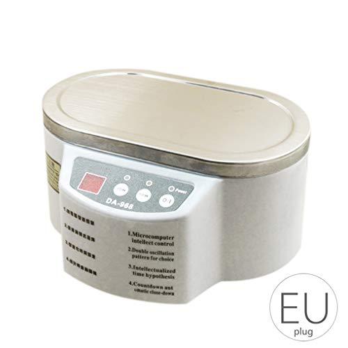 Junecat 600ml Mini Schmuck Uhrschalen Zahnbürste Sonic Reiniger Waschmaschine Dual Power Timer Waschmaschine (Zahnbürste Sonic Dual)