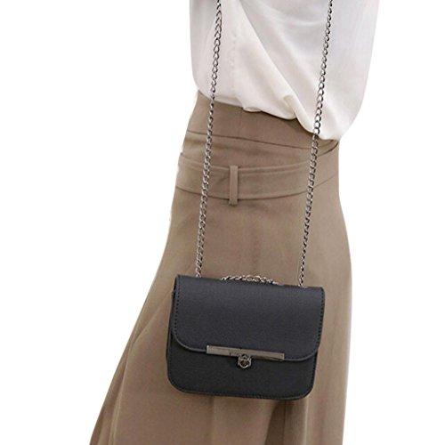 Adatti a donne catena in pelle borsetta Nero