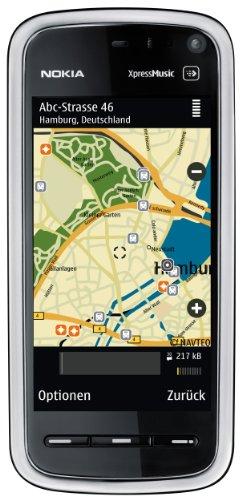 Nokia 5800 XpressMusic Navigation Edition (KFZ, Gerätehalter, 8GB Speicherkarte, GPS, 3.2 MP, WLAN, Ovi Karten) gun black Radio Trageriemen