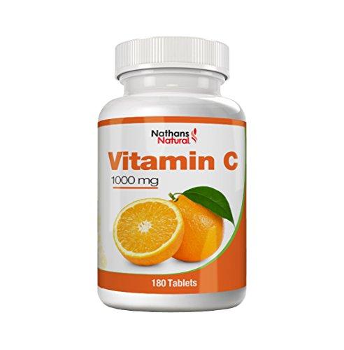 Vitamina C 1000 mg - 180 comprimidos | Preparado de Vitamina C de alta dosificación para máxima eficacia | Para más energía y fuerza vital y contra la flojera y el cansancio | Fortalece su sistema inmunológico y mejora el metabolismo energético