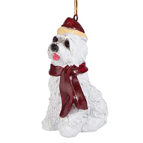 Design Toscano Christmas Ornaments, Xmas Maltese Ferienhundeornamente -