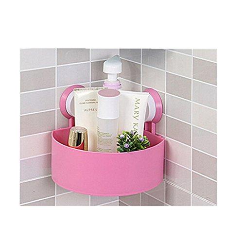 Preisvergleich Produktbild TougMoo Küche Regal Regal Wandregal mit 2 Tassen 40cm Lagerregal Sauce Flasche Gewürz Werkzeughalter für Küche Würzen Sooktops Regal, Pink