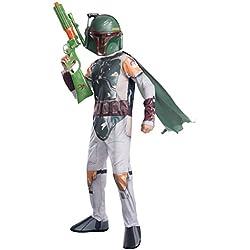 Rubies s. Disfraz oficial de Disney Star Wars Boba Fettpara niños. Tamaño grande