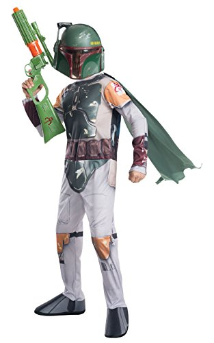 Rubie 's Offizielles Disney Star Wars Boba Fett, Kind Kostüm - Medium (Darth Vader Ohne Maske Kostüm)