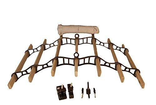 Casolare maid 7 listello deluxe (cromo, ottone o bronzo) puleggia stendino con pino listelli - bronzo, 1.8m