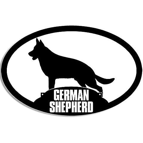 Profilo ovale, motivo pastore tedesco, cane razza adesiva)