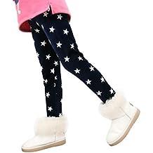 Muchachas de las polainas de los pantalones de los niños, RETUROM new design Winter Girls Leggings Thick Warm Elastic Waist Legging Clothing Pants