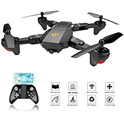 XS809 RC plegable Quadcopter Drone con Altitude Hold FPV VR Wifi Gran angular 720P 2MP HD Camera 2.4GHz 6-Axis Gyro Headless Mode XS809 Drone (XS809)