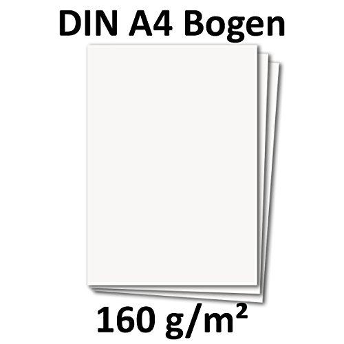 DIN A4 Papier Planobogen - Hochweiß   50 Stück   160 g/m²   Bastelbogen - Briefpapier - Bastelkarte   210 x 297 mm   formstabil   Printable für Drucker geeignet   PREMIUM Qualitätsmarke: NEUSER FarbenFroh A4 Einladungen