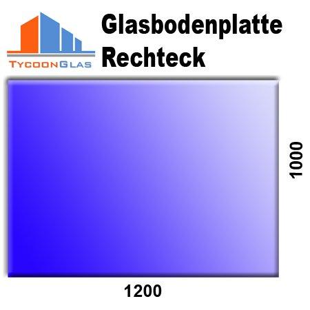 Glasbodenplatten für Kaminöfen verschiedene Formen und Stärken 6mm Rechteck 1000x1200 (Rechteck Glas)