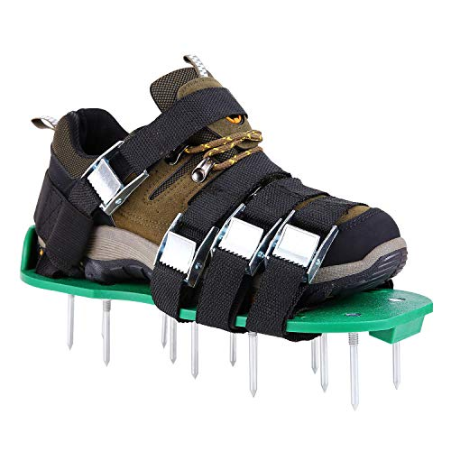 Loose lawn sneakers, high strength inflatable lawn, 4 adjustable buckles and 1 elastic band, loose soil gardening tools