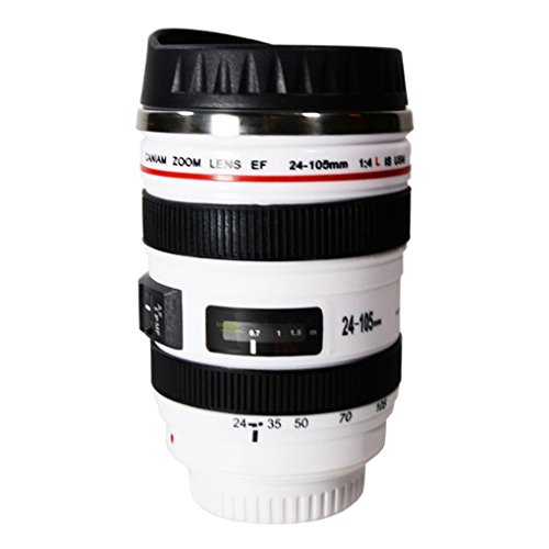 (Cdrox Spiegelreflexkamera-Becher Reise-Kaffeetasse Tee-Wasser-Becher-Edelstahl-Tumbler)