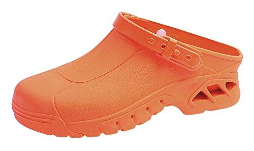 clinicfashion OP-Clog orange, autokalvierbar, für Damen und Herren, Größe 35-46 Orange