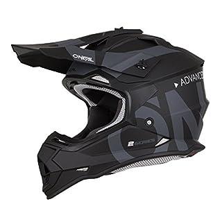O'Neal 2Series RL Slick Motocross Helm MX Enduro, Schwarz Grau, L, 0200-SAdult