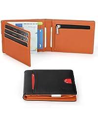 2cbe83abf7 Vemingo Portafoglio Uomo con Clip Protezione RFID in Pelle PU   Portafoglio  con Fermasoldi e Portamonete Porta Carte di…