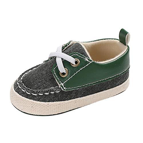 Babyschuhe Lauflernschuhe Turnschuhe Sneaker Canvas Krabbelschuhe für Baby Canvas Frenulum Prewalker Single Schuhe 0-18 Monate Heligen