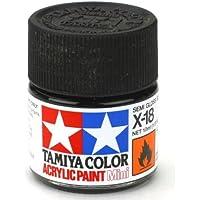 Tamiya X18 : flacon de peinture 10 ml - X18 Noir satiné brillant