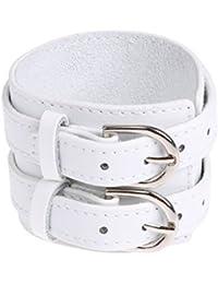 La Cabina Bracelet Bijou Fantaisie Femme et Homme Bracelet de Poignet Bangle  en Perles Cuir Véritable Ceinture… 715846048c0