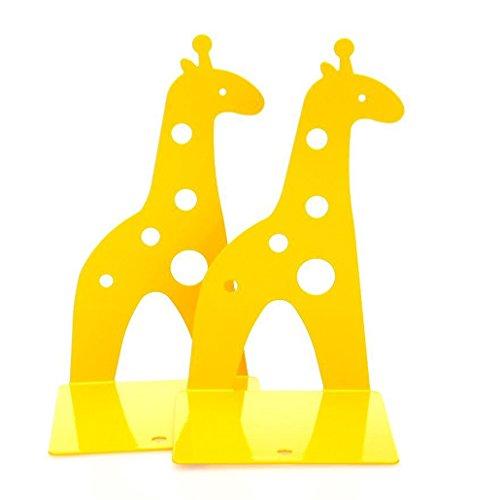 Rbenxia 1 Paar gelbe niedliche rutschfeste Giraffen-Buchstützen, Bücherregal-Organizer, Kunst-Geschenk für Kinder, Studenten, Leser, für den Schreibtisch - Baby Schrank Mini