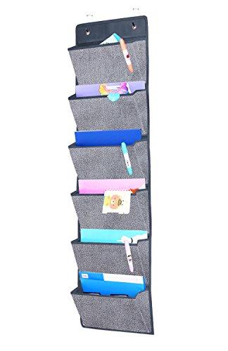 homyfort Hängeaufbewahrung für über die Tür oder Wand - Magazinboard, Hängeorganizer,...