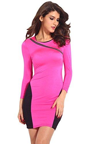Dissa® femme Blanc SY21259-1 robe de cocktail Rose
