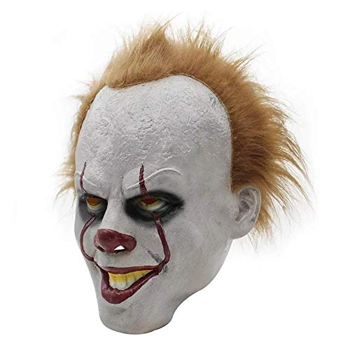 Yanchad Scary Clown Maske, Halloween Joker Kostüm Creepy Demon Horror Cosplay Masken Dekoration Requisiten