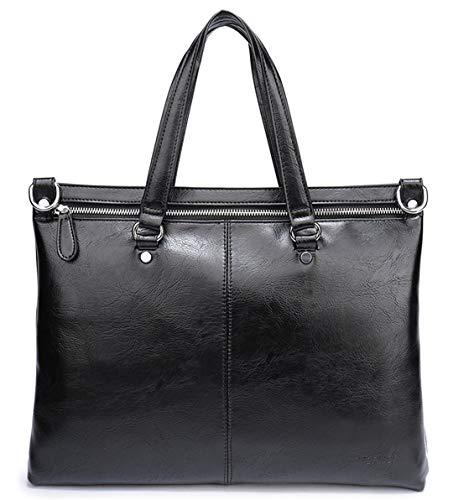 Geschäfts-Normallack-Mann-Aktenkoffer-Luxusmänner Laptop-Beutel-Art- und Weisegrosse männliche Schulter-Beutel Black