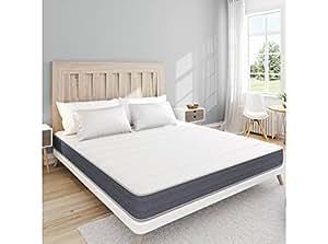 UsineStreet Matelas Memory First 140x190cm Mémoire de forme MEMORYTEX® 42kg/m3 + 7 zones de confort - Ferme - Accueil moelleux – H 17 cm - OBED
