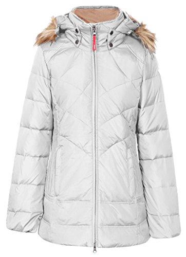 Icepeak - Talise rouge jacket lady - Vestes blousons hiver Blanc - Blanc nacré