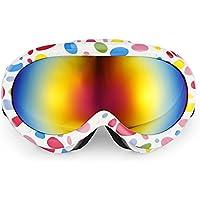 Zhuhaimei,Unisex Lente antivaho Snowboarding Esquí Gafas Escalada Gafas Gafas(Color:Vistoso)