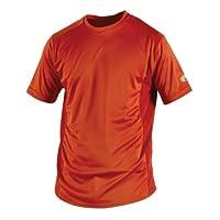 Rawlings Men's Short Sleeve Baselayer Shirt, Burnt Orange, XX-Large