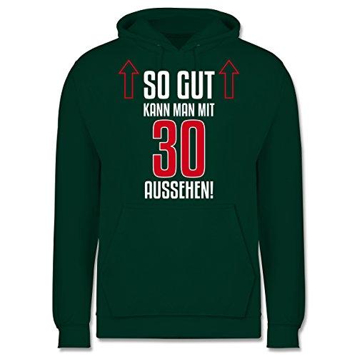 Geburtstag - So gut kann man mit 30 aussehen - Männer Premium Kapuzenpullover / Hoodie Dunkelgrün