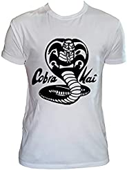 UZ Design T Shirt Cobra Kai Uomo Bambino Maglietta Karate Kid Film Cult Anni 80