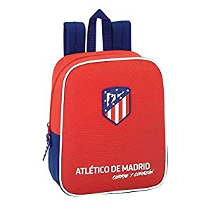 "41s1yJBsdLL. SS300  - Safta Mochila Atlético De Madrid ""Coraje""Oficial Mochila Infantil 220x100x270mm"