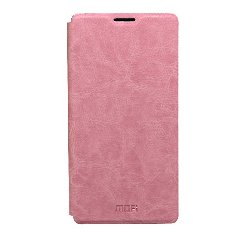 Jo Jo Mofi Leather Flip Cover Case With Slim Back Stand For Sony Xperia M5 E5603 Light Pink  available at amazon for Rs.69