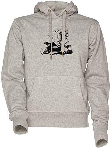 Vendax Das großartig Meister - Dj Unisex Herren Damen Kapuzenpullover Sweatshirt Grau Men's Women's Hoodie Grey