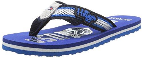 Tommy Hilfiger FLIPPER 8D, Jungen Zehentrenner, Blau (MIDNIGHT/MONACO BLUE)