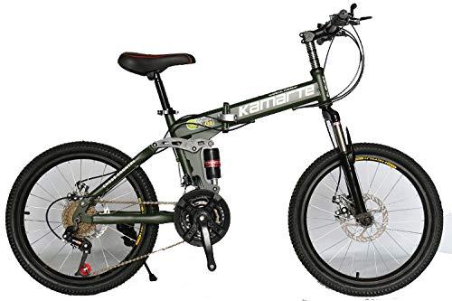 Kinderfahrrad,Doppel-Stoßdämpfer Für Männer Und Frauen Fahrräder 20 Zoll Kinder Variable Geschwindigkeit Mini Folding Kinderfahrrad