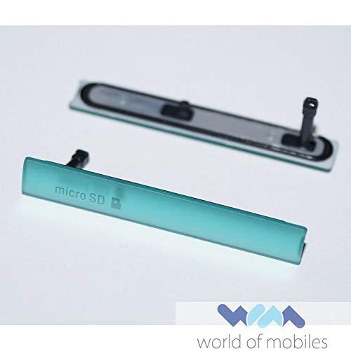 Sony Xperia Z3 Compact (D5803, D5833) Micro USB Ladebuchse + Micro SD Abdeckung, Charging Port Cover, Grün, green Ports Compact