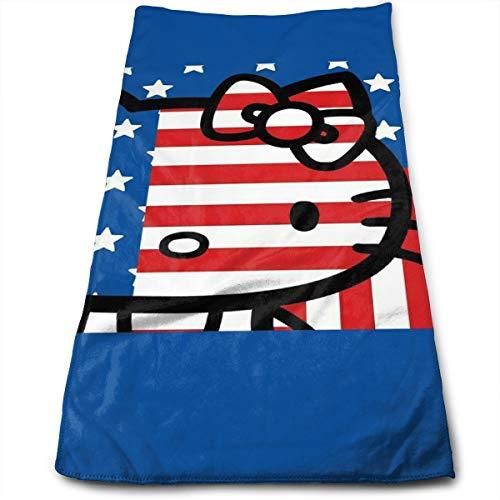 Beständige Sporthandtücher Hello Kitty Flag - Ideal für den täglichen Gebrauch Ultraweiche Badetücher 11,8