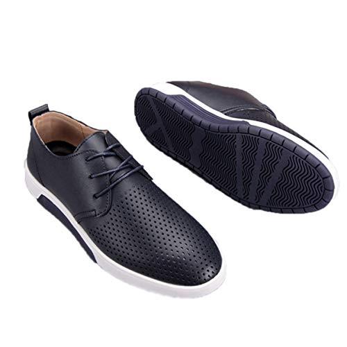 Jessie Kelly Herren Business Schuh aushöhlen atmungsaktiv lässig Oxford Schuhe Gore Moc