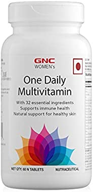 GNC Women's One Daily Multivitamin - Supports Immune Health and Healthy Skin - 60 Tab