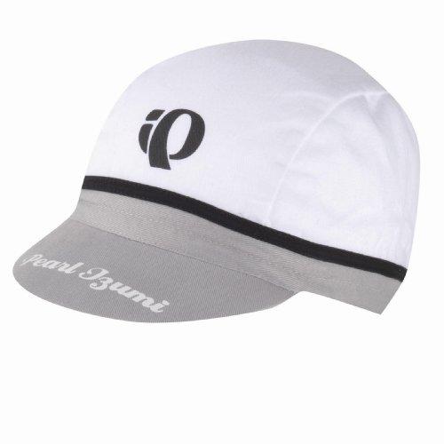 Pearl Izumi Baumwolle Cycling Cap (One Size), Herren damen unisex, C, weiß