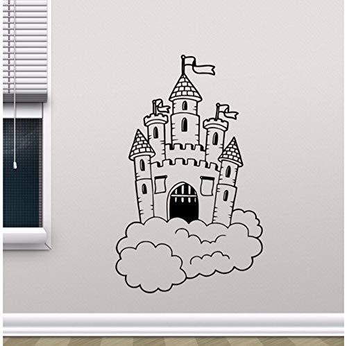 rg In Wolken Wandtattoo Kindergarten Wandbild Kinder Schlafzimmer Dekor Magic Kingdom Vinyl Aufkleber Kinderzimmer Dekor ()