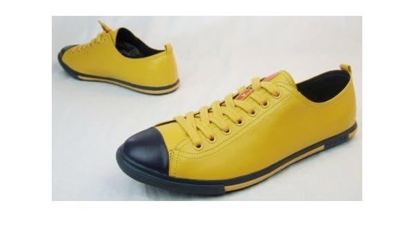 882f66195927d Prada  Edle Herren-Sneaker Schuhe  Nappa-Leder gelb  44  Amazon.de  Schuhe    Handtaschen