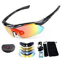 نظارة شمسية مستقطبة للرياضة من ماسو UV400 إطار TR90 غير قابل للكسر مع 5 عدسات قابلة للتبديل للرجال والنساء أثناء قيادة الجولف