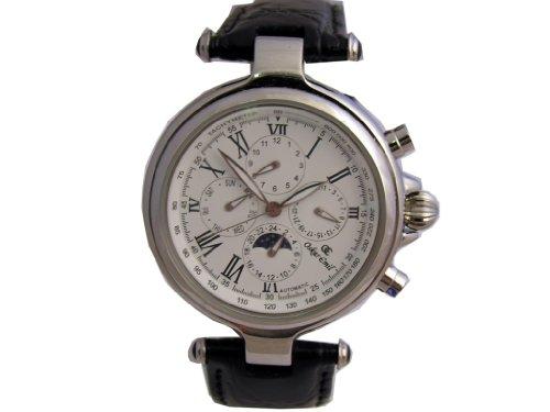 Oskar Emil Automatic Multifunction Antibes Black Leather Men's Watch