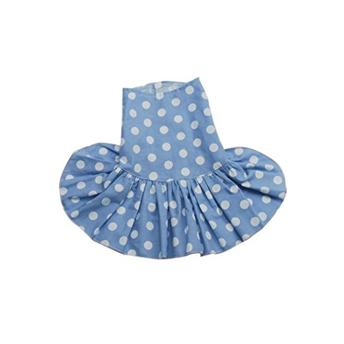 e Point Druck Rock Teddy Cute Puppy Dog Kleidung Casual Small Blau ()