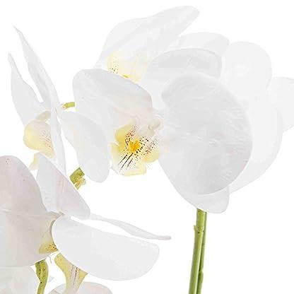 SYMALL Flores Artificiales de Orquídeas Bonsái de Phalaenopsis con Maceta Decoración Hogar de Fiestas